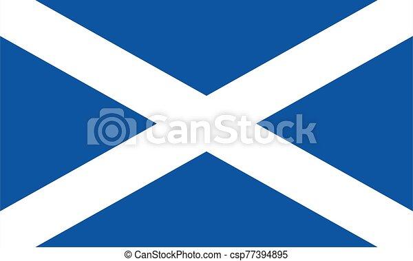 Scotland flag illustration - csp77394895