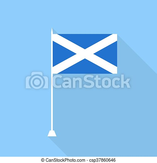 Scotland Flag. Vector illustration . - csp37860646