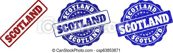 SCOTLAND Scratched Stamp Seals - csp63853871