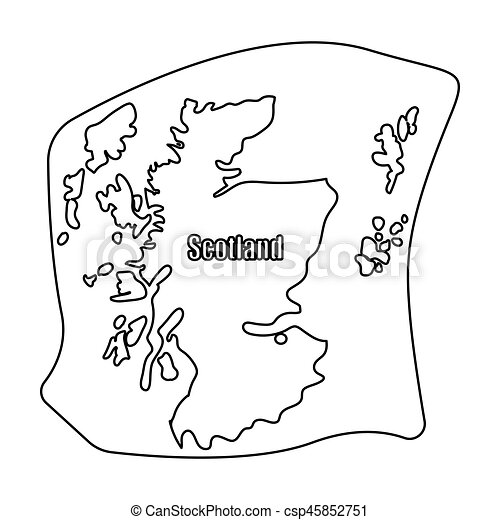 Scotland the mapotland is a country on the world clipart scotland the mapotland is a country on the world mapotland single icon in outline style vector gumiabroncs Choice Image