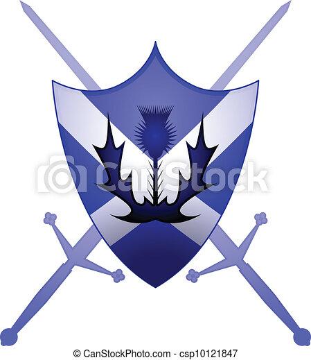 Scottish heraldry symbol - csp10121847
