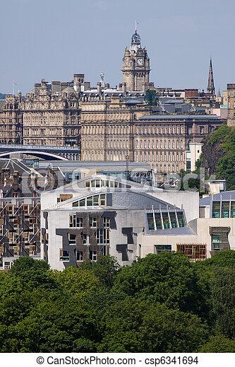 Scottish Parliament and Edinburgh - csp6341694