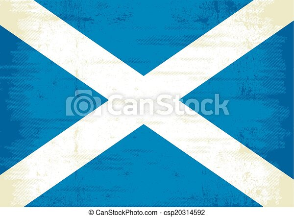 scottish scratched flag - csp20314592