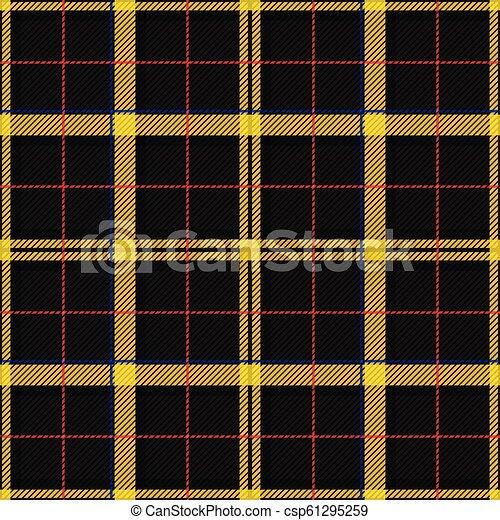 Scottish Tartan Checkered Seamless Pattern Vector Repeat