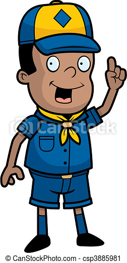 scout idea a happy cartoon cub scout with an idea vector clip art rh canstockphoto com cub scout clip art borders cub scout clipart to print