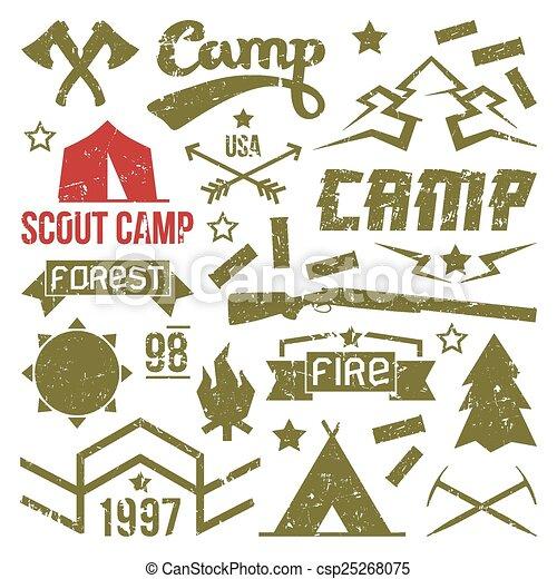 scout, insignes, camp - csp25268075