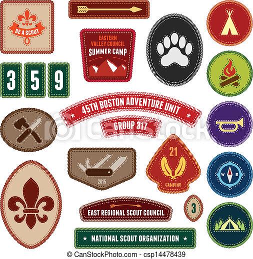 scoutisme, insignes - csp14478439