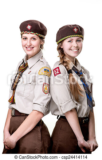 Scouts in studio - csp24414114
