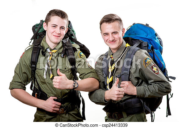 Scouts in studio - csp24413339