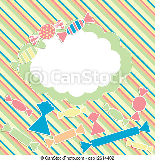 scrabbok background with sweets - csp12614402