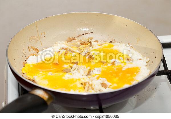 scrambled eggs - csp24056085
