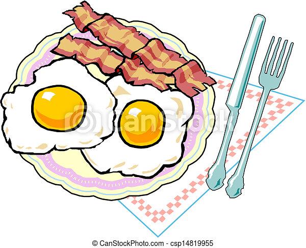 Scrambled Eggs Vector Illustration