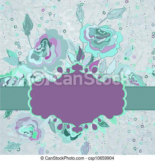Scrap-booking vintage design card. EPS 8 - csp10659904