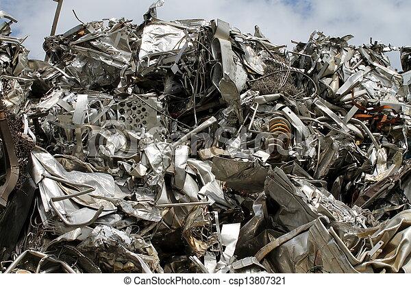 scrap metal - csp13807321