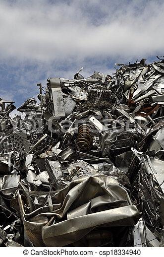 scrap metal - csp18334940