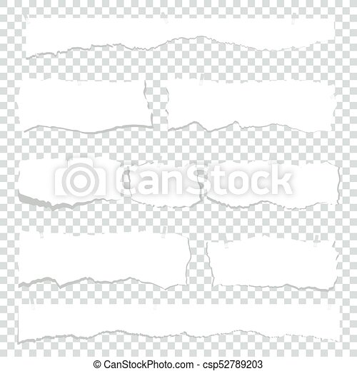 Scrap White Paper On Transparent Bright Square Colored Sheets Of