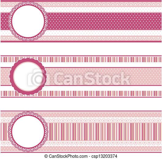 scrapboo banners vector - csp13203374