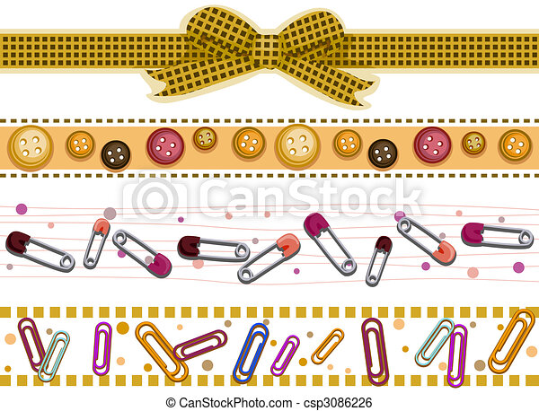 Scrapbook Borders Scrapbook Border Set Stock Illustration Search Clip Art Drawings And