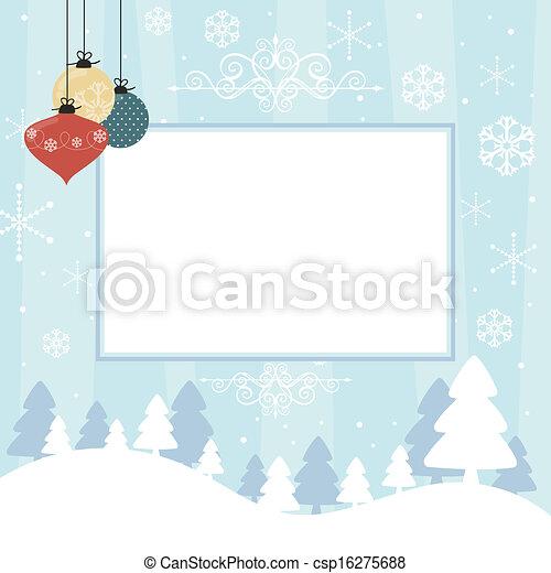 scrapbook christmas card - csp16275688