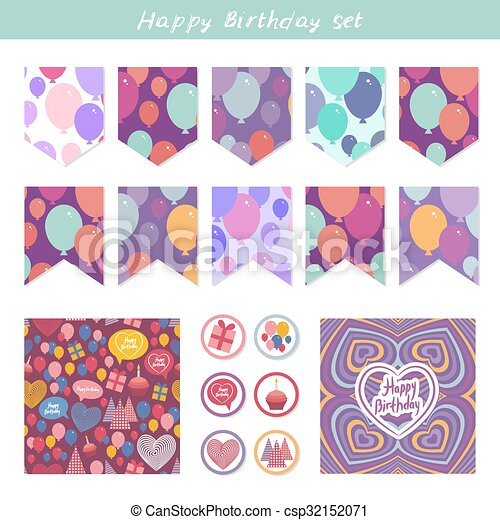 Scrapbook Design Elements Birthday Baby Shower Party Design