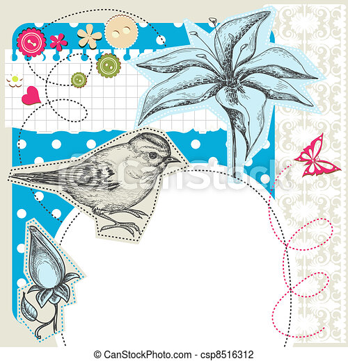 Scrapbook elements with space for text - csp8516312