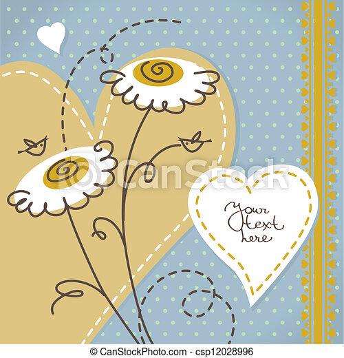 Scrapbook floral background - csp12028996