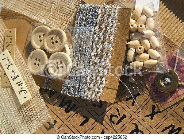scrapbooking crafting items - csp4225652