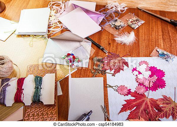 Scrapbooking elements and accessories - csp54184983