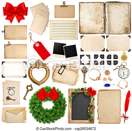 scrapbooking elements for christmas holidays greetings - csp26534672