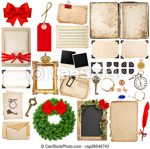 scrapbooking elements for christmas holidays greetings - csp26546743