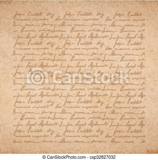 Scrapbooking Letter Vintage Old Paper Texture With Handwriting