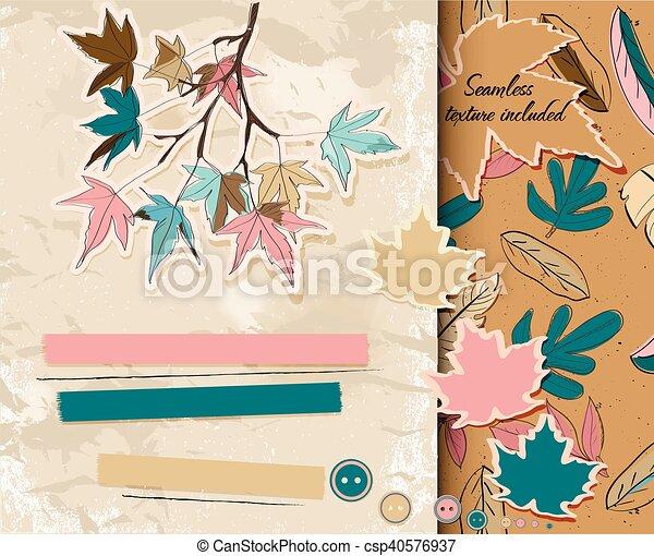 Scrapbooking set about autumn. - csp40576937