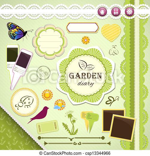 Scrapbooking Set: My Garden Diary - csp13344966
