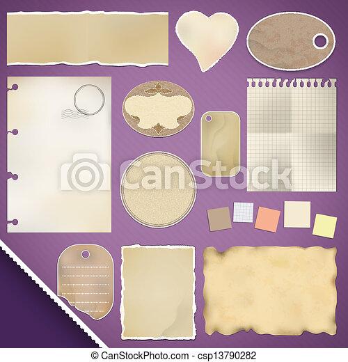 Scrapbooking Set: Torn Paper - csp13790282