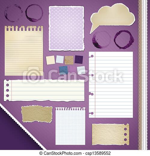 Scrapbooking Set: Torn Paper - csp13589552