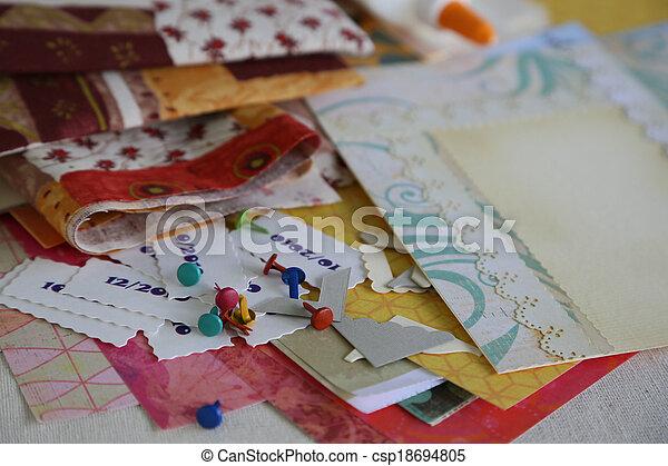 Scrapbooking supplies and accessories - csp18694805