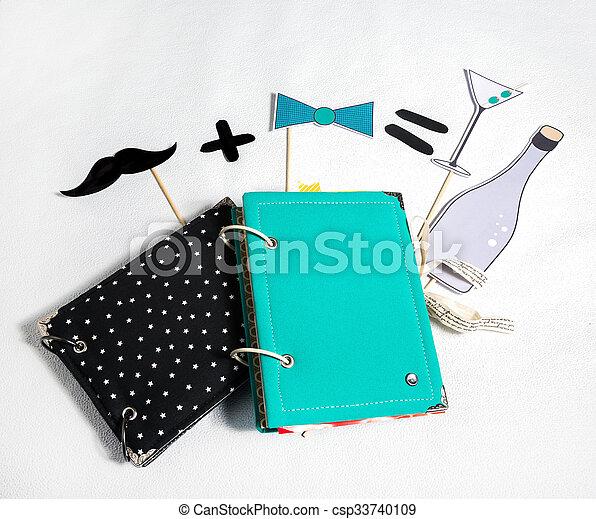 scrapbooking, wedding accessories - csp33740109