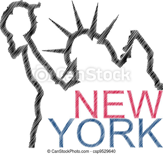 scratch new york - csp9529640