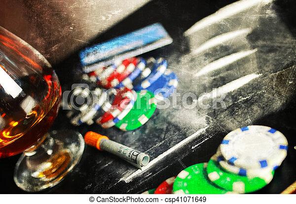 scratch photo concept addiction cocaine alcohol glass drug - csp41071649