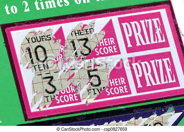 Stock photographs of scratch ticket photo of a scratched lottery scratch ticket csp0827659 sciox Images