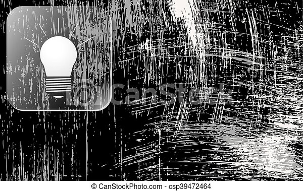 Scratched background and bulb - csp39472464