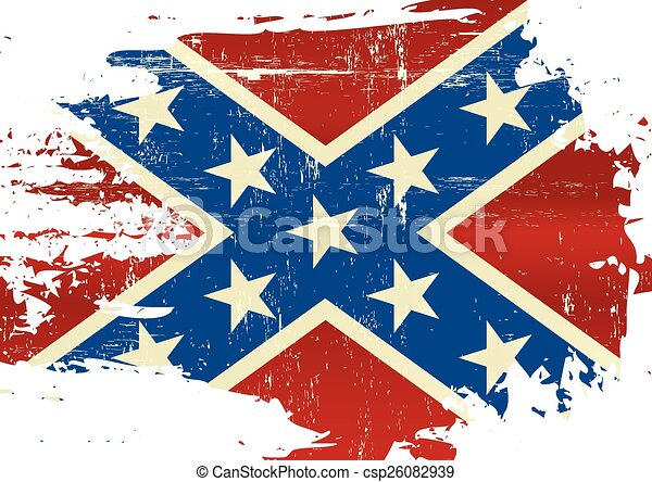 Scratched Confederate Flag A Civil War Flag With A Grunge