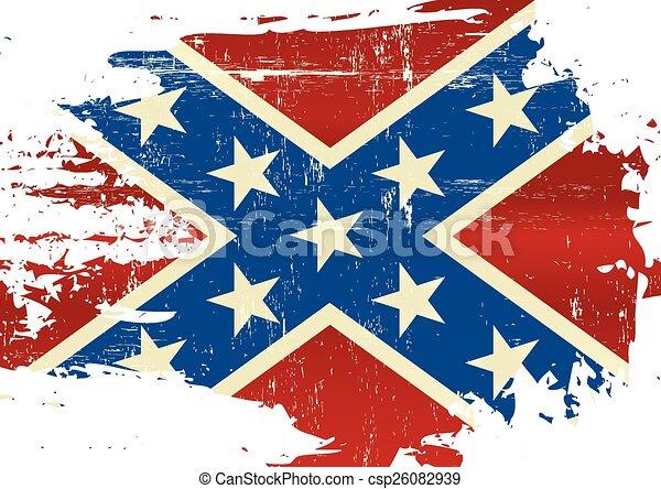 Scratched Confederate Flag - csp26082939