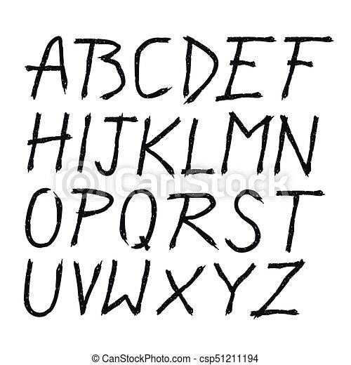Scratched doodle hand drawn letters font marker lettering eps scratched doodle hand drawn letters font csp51211194 altavistaventures Images
