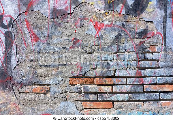 scratched graffiti - csp5753802