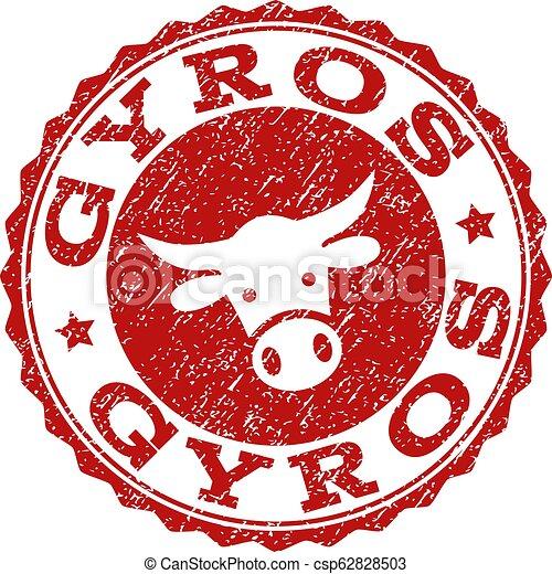 Scratched GYROS Stamp Seal - csp62828503