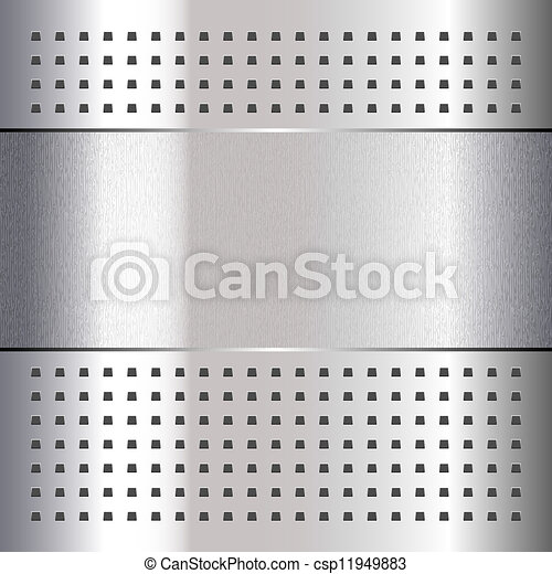 Scratched, on chrome metal background, 10eps - csp11949883