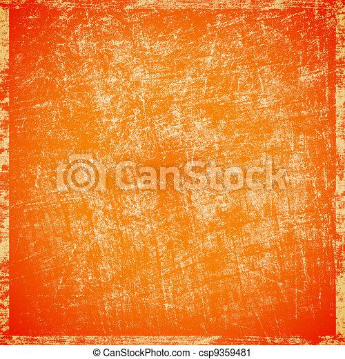 scratched orange background - csp9359481