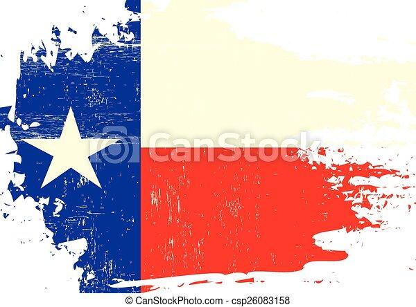Scratched Texas Flag - csp26083158