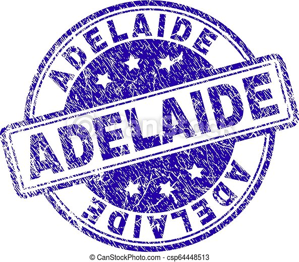 Scratched Textured ADELAIDE Stamp Seal - csp64448513